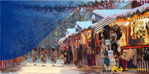 kerstmarkt met de trein